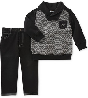 Calvin Klein 2-Pc. Sweater & Jeans Set, Baby Boys (0-24 months)