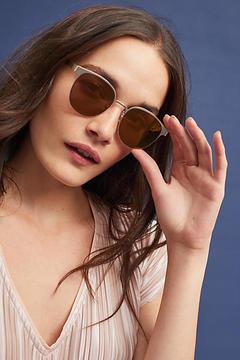 Anthropologie Golden Clubmaster Sunglasses