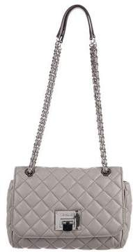 Michael Kors Quilted Leather Shoulder Bag - GREY - STYLE