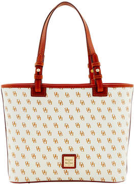 Dooney & Bourke Gretta Small Leisure Shopper - WHITE TAN - STYLE