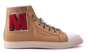 Marc Jacobs Men's Beige Fabric Hi Top Sneakers.