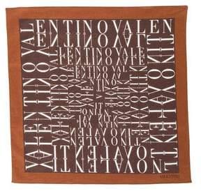 Valentino Logo Print Pocket Square