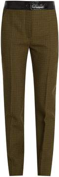 Courreges Hound's-tooth slim-leg wool trousers