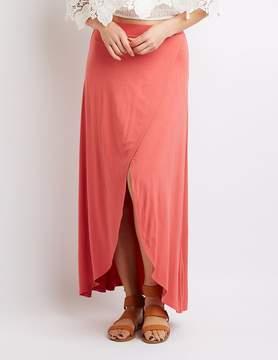 Charlotte Russe Faux Wrap Maxi Skirt