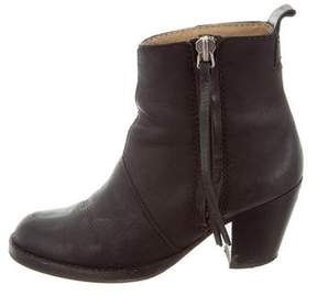 Acne Studios Leather Pistol Ankle Boots