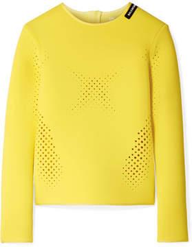 Balenciaga Perforated Neoprene Top - Yellow