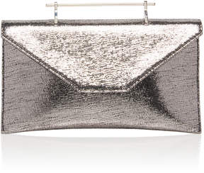 M2Malletier Annabelle Metallic Leather Clutch