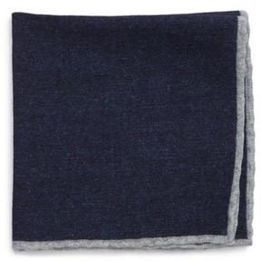 Eleventy Men's Flannel Wool Pocket Square