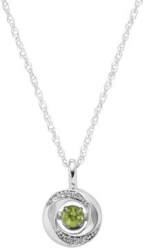 Brilliance+ Brilliance In Motion Brilliance in Motion Peridot & Diamond Accent Knot Pendant
