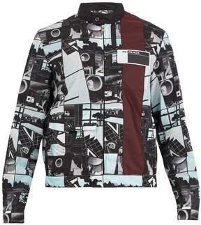 Prada Comic-strip stand-collar jacket