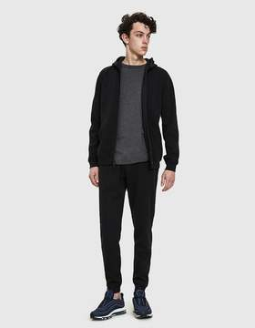 Reigning Champ Full Zip Bonded Hoodie in Black