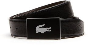 Lacoste Men's Reversible Leather Belt And Two Buckles Gift Set