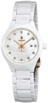 Rado True Mother of Pearl Diamond Dial Ladies Ceramic Watch