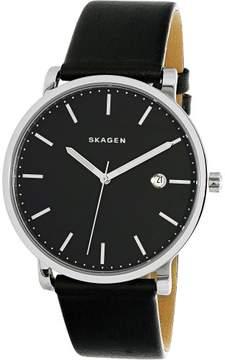 Skagen Men's Hagen SKW6294 Black Leather Quartz Fashion Watch