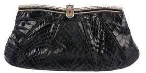 Judith Leiber Snakeskin Embellished Clutch