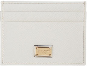 Dolce & Gabbana White Leather Card Holder - WHITE - STYLE