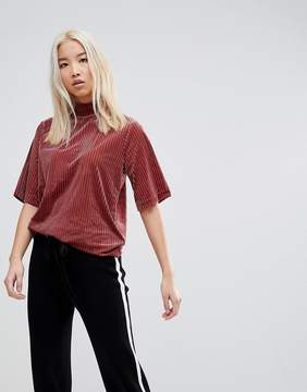 B.young Ribbed High Neck T-Shirt