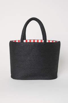 H&M Straw Bag - Black