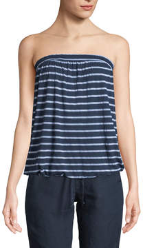 Allen Allen Striped Elasticized Tube Top