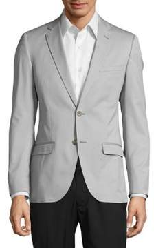 Lord & Taylor Buttoned Long-Sleeve Coat