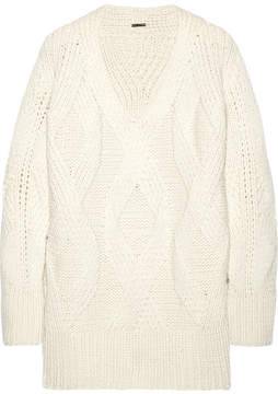 ADAM by Adam Lippes Oversized Cable-knit Wool And Cashmere-blend Sweater - Ivory