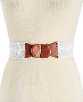 INC International Concepts Beaded Stretch Belt, Created for Macy's