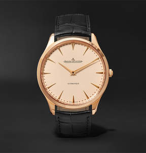 Jaeger-LeCoultre Master Ultra Thin 41mm Pink Gold And Alligator Watch