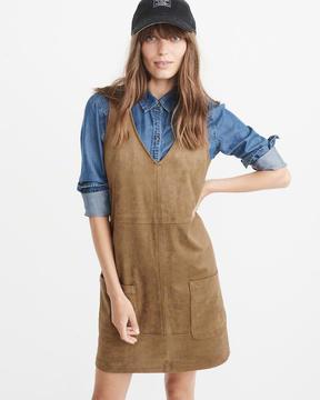 Abercrombie & Fitch Vegan Suede Dress