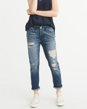 Abercrombie & Fitch Low-Rise Slim Boyfriend Jeans