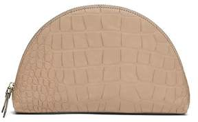 Banana Republic Croc-Effect Medium Half-Moon Pouch
