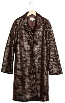 Helena Girls' Textured Long Coat