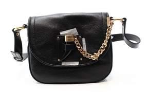 Michael Kors Black Pebble Leather James Shoulder Saddle Purse Bag - BLACKS - STYLE