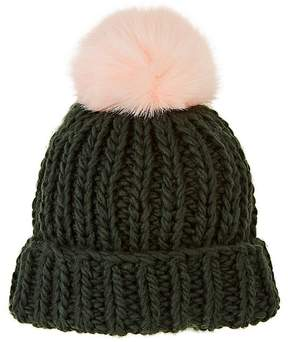 Barneys New York WOMEN'S POM-POM-EMBELLISHED WOOL-BLEND HAT