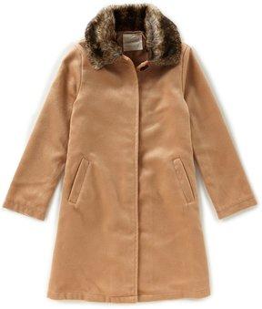 Copper Key Big Girls 7-16 Faux-Fur Collar Coat