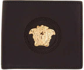 Versace Black Medusa Circle Wallet