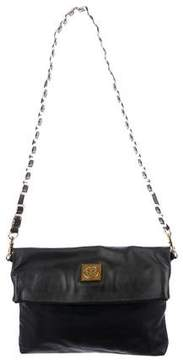 Tory Burch Louisa Fold-Over Bag - BLACK - STYLE