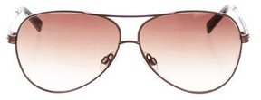 Judith Leiber Embellished Aviator Sunglasses
