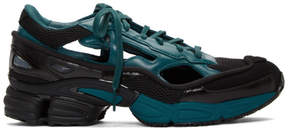 Raf Simons Blue and Black adidas Originals Limited Edition Replicant Ozweego Sneakers Anniversary Pack