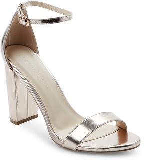 Wild Diva Rose Gold Block Heel Sandals