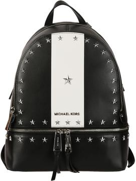 Michael Kors Studded Rhea Medium Backpack - BLACK/WHITE - STYLE