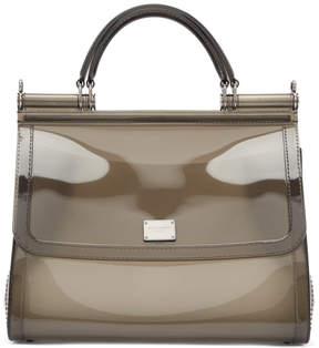 Dolce & Gabbana Grey Small Rubber Miss Sicily Bag
