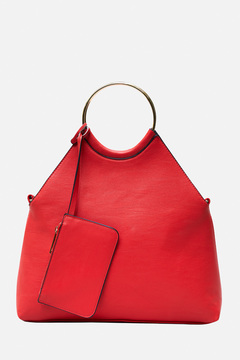 Kennedy Fold-Over Ring Handle Bag
