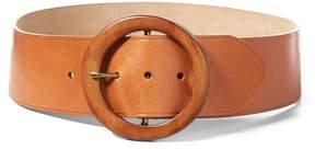 Polo Ralph Lauren | Lennox Wood-Buckle Belt | L | Brown