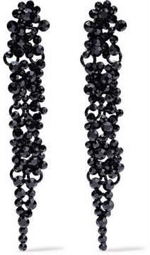 Kenneth Jay Lane Crystal And Enamel Earrings