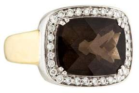 Frederic Sage 18K Smoky Quartz & Diamond Cocktail Ring