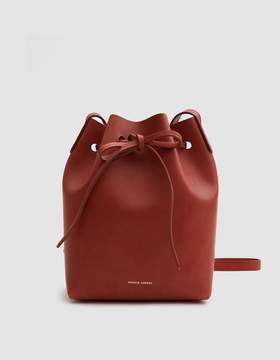 Mansur Gavriel Mini Bucket Bag in Brandy/Avion