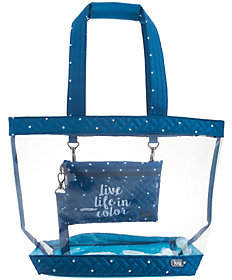 Lug Clear Tote with Message Wristlet - Peekaboo