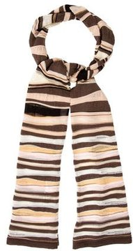 M Missoni Striped Patterned Scarf