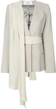 Chalayan fitted drape detail jacket