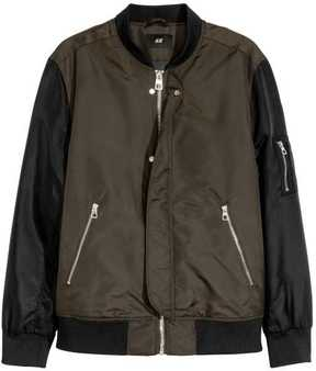 H&M Nylon Bomber Jacket